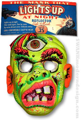 vintage halloween monster mask