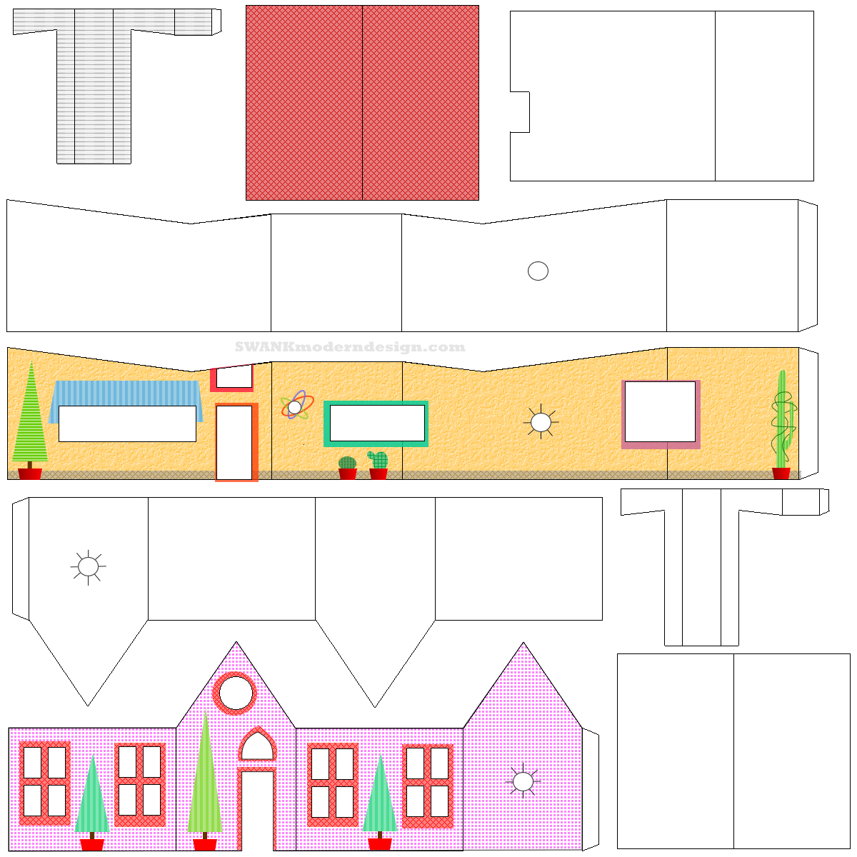 Cut Out Paper Houses Templates
